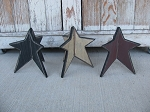Primitive Three Dimensional Wooden Star-Color Choices