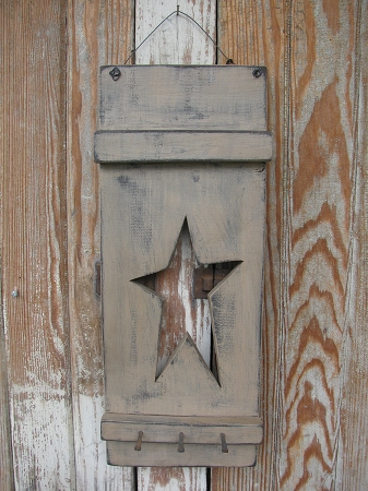 Vintage Signs For Sale >> Primitive Hand Made Wooden Star Panel with Antique Square ...