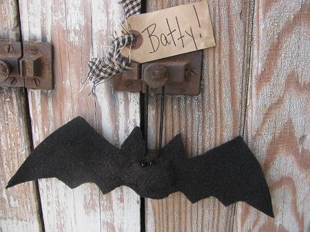 Primitive Halloween Set Of 5 Bat Bowl Fillers Or Ornaments