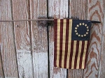 Primitive Betsy Ross Tea Stained Flag
