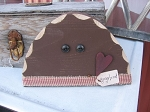 Primitive Country Chunky Wood Gingerbread Head