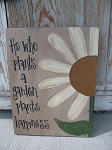 Primitive Daisy Hand Painted Wooden Sign