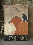 Primitive Fall Pumpkins Vintage Hand Painted Book