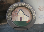 Primitive Fall Bounty Saltbox Hand painted Plate