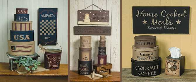 primitive home decor | country home decor | gainers creek crafts
