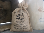 Primitive Farmhouse Burlap Early Bird Farms Rooster Feed Sack