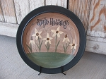 Primitive Country Cottage Chic Wild Flowers Hand Painted Plate