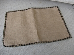 Burlap with Black and Tan Rectangle Placemat