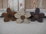 Primitive Country Chunky Wood Daisy Flower Head