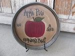 Primitive Country Hand Painted Grandmas Best Apple Pie Antique Pie Plate