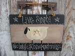 Primitive Live Simply Alphabet Sheep and Star Sign