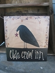 Primitive Crow Sign with Stars and Berries
