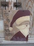 Primitive Country Santa Personalized Sign