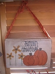 Pumpkins and Black Eyed Susan Hanging Book