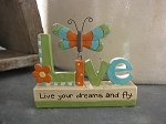 Live your Dreams and Fly Resin Butterfly Collectible