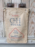 Vintage C & H Sugar Sack 10 lb Bag Lathe Wall Hanging