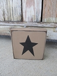 Primitive Country Star Customizable Hand Painted Sign Block