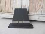 Primitive Large Wooden Chunky Pilgrim Hat Thanksgiving Decor