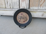 Primitive Hand Lettered Everyday Mini Word Plate with Stars