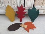 Primitive Autumn Fall Leaves Bowl Fillers Set of 5
