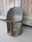 Antique Primitive Farm House Galvanized Grain Scoop