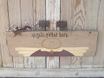 Primitive Country Angel Hand Painted Wooden Sign