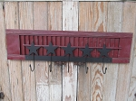 Primitive Wooden Shutter with Black Star Hanging Rack