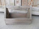 Primitive Vintage Farm House Wooden Tool Box Tote