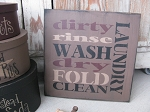 Primitive Laundry Typography Subway Tile Sign