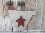 Primitive Country Farm House Hanging Wooden Chicken Hen with Star