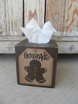 Primitive Country Gingerbread Hand Painted Tissue Box Cover
