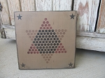 Primitive Chinese Checkers Hand Stenciled Game Board