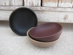 Primitive Hand Painted Wood Accent Bowl with Color Choices