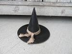 Primitive Small Paper Mache Black Halloween Witch Hat