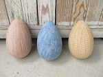 Primitive Shabby Chic Spring Time Set of 3 Jumbo Easter Eggs