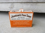 Vintage Antique Johnson's Foot Soap Box