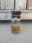 Primitive Hand Made Vanilla Extract Glass Bottle Decoration