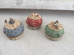 Primitive Vintage Jar Lid Pin Cushion