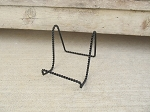 Black Twisted Steel Easel Plate Holder Stand Rack