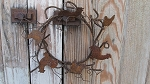 Primitive Country Rusty Tin Rooster Chicken Wreath