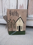 Primitive Saltbox Country Church Hand Painted Vintage Book