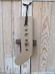 Primitive Wooden Sock Stretcher with Stars