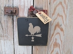 Primitive Country Weathervane Rooster Hand Painted Sign Plaque