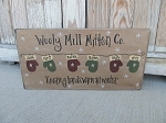 Primitive Winter Wooly Mitten Personalized Hand Painted Sign-Customize with Number of Mittens