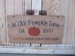 Primitive Autumn Fall Ye Olde Pumpkin Farm Hand Painted Pallet Sign