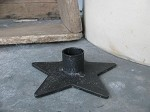 Primitive Iron Star Shaped Candle Holder