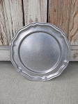 Vintage Antique Pewter Scalloped 10 1/2