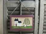 Primitive Saltbox and Sheep Hanging Book