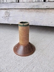 Antique Primitive Wooden Spool Bobbin with Original Nymo Label