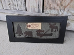 Primitive Welcome to the Cabin Rusty Tin Shapes Hand Made Frame Decoration